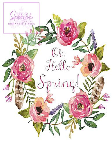 printable spring flowers pictures free spring printable wreath shabbyfufu