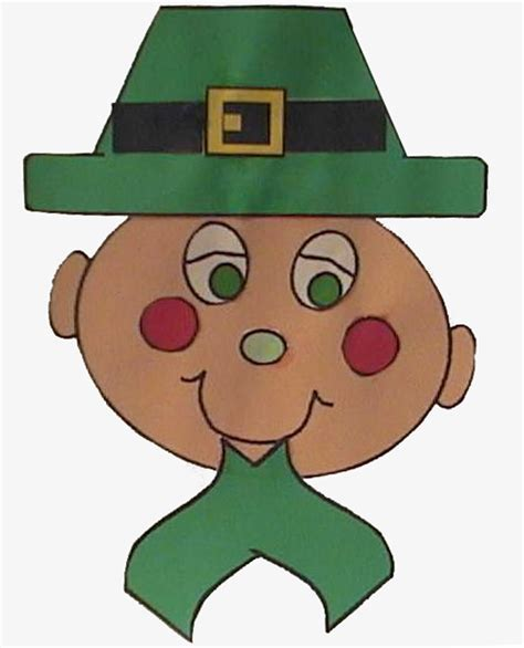 Dltk Paper Crafts - easy leprechaun craft
