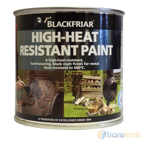 Heat Resistant Paint For Clay Chimineas Blackfriar High Heat Resistant Black Matt Finish Paint