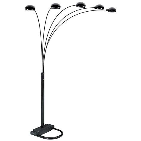 polaris black  arm arch floor lamp  lighting  sportsmans guide