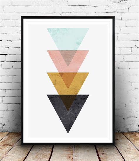 minimalist wall decor minimalist wall art triangle print nordic style geometric