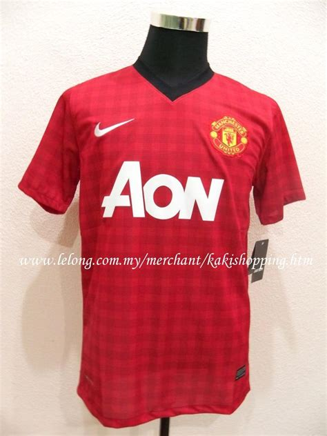 Jersey Manchester United Home 2012 2013 manchester united home 2012 2013 jersey jersi size s m on penang end time 3 12 2012 1 15