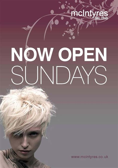 Hairdresser Glasgow Open Sunday | mcintyres perth road and union street salons open sundays