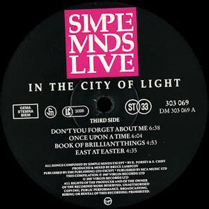 Simple Minds Live In The City Of Light by Simple Minds Wolf S Kompaktkiste