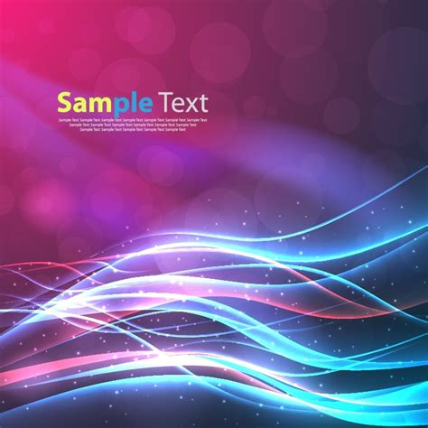 background design neon abstract magic neon light wave lines background free