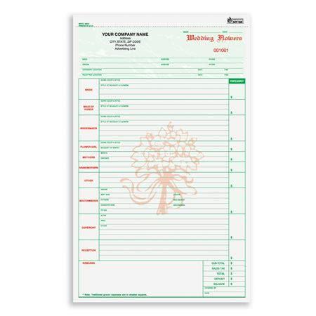 floral order form template wfcc 648 wedding flower order form
