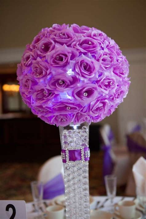 purple wedding centerpieces and decorations