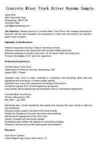 garbage truck driver resume student resume template