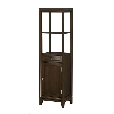 shop allen roth caterton java linen cabinet common 18