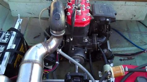 sea doo boat engine swap jet ski powered aluminum row boat home made frankenboat by