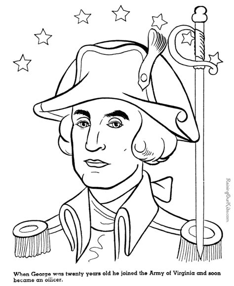 coloring page of george washington coloring home