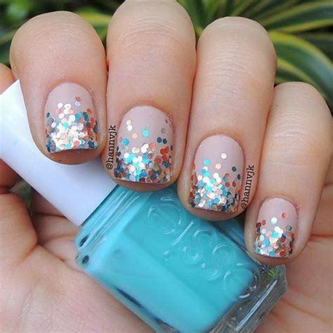 cute  easy glitter nail designs ideas  rock