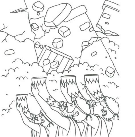 Joshua 7 Coloring Pages by Joshua And Jerico Colouring Pages Sktch Outline