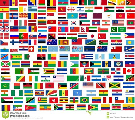 flags of the world from a to z flags of all world countries stock illustration image