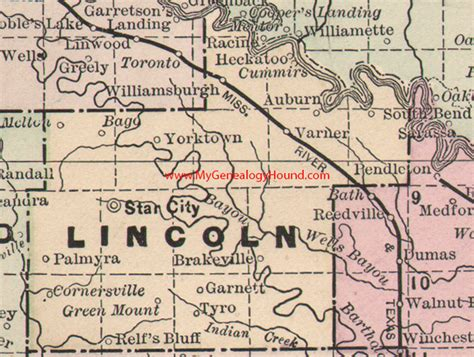 Lincoln County Records Map Lincoln Arkansas Bnhspine