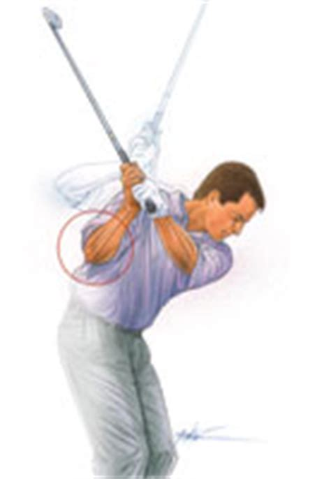 golf swing flying right elbow give your slice the elbow golf tips magazine
