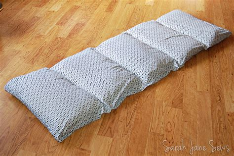 pillow bed for kids sarah jane sews tutorial pillow bed from xl twin sheet