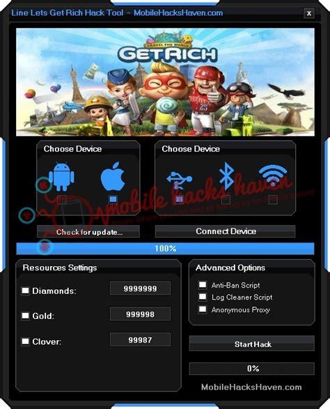 tutorial hack line lets get rich cheat get rich new update cheat killer 96