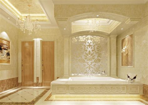 Japanese Modern Interior Design by Luxury Palace Style Bathroom