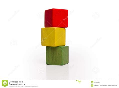 toy wooden blocks stack multicolor box cubes stock photo
