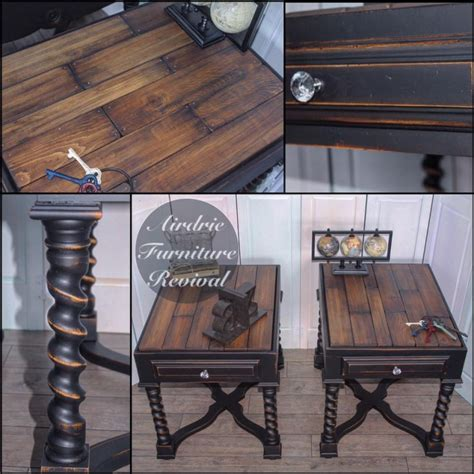 antique walnut gel stained dresser antique walnut end tables with class black general finishes design center