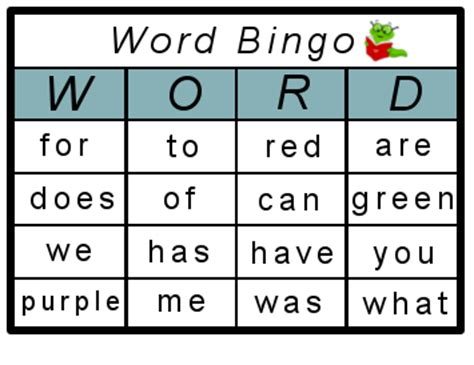 how to make bingo cards with words high frequency sight word bingo printables my me