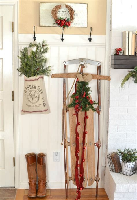 vintage christmas home decor simple farmhouse cottage christmas decorating ideas an