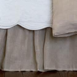 linen bed skirts linen voile bed skirt
