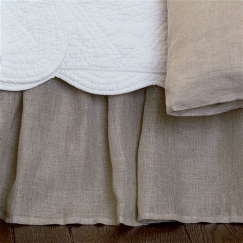 linen bed skirts linen voile natural twin bed skirt