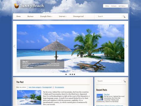themes wordpress free travel sunnybeach free wordpress theme