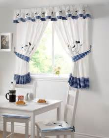 Kitchen Curtains Blue Blue Kitchen Curtains From Net Curtains Direct
