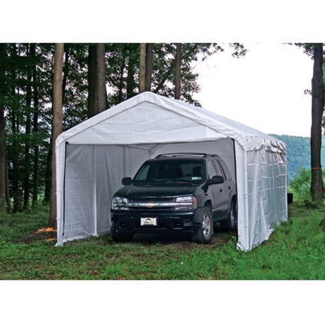 10x20 Carport 10 X 20 1 3 8 Quot Dia Enclosed Carport Canopy