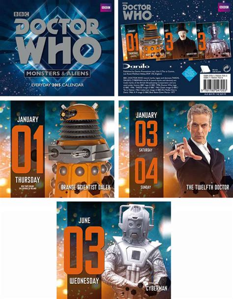Doctor Who Desk Calendar by Doctor Who Desk Block 2015 Calendar Merchandise Guide
