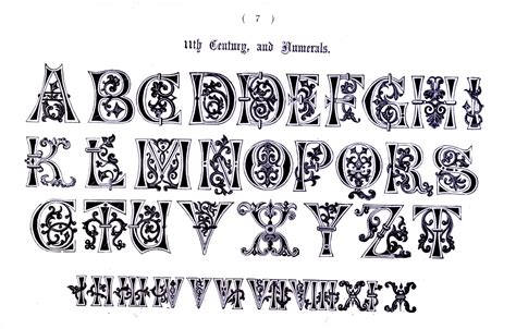 typography letters typography alphabet ornate 11th century types of ty 183 pog 183 ra 183 phy