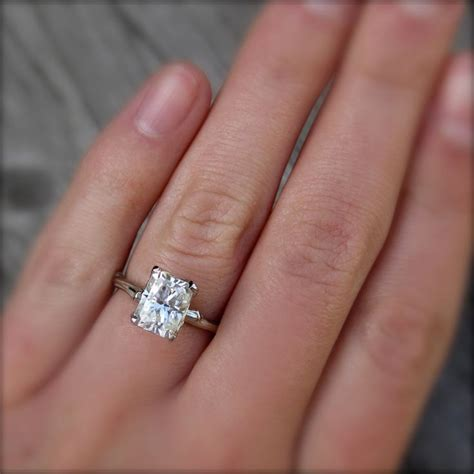 emerald moissanite twig engagement ring carved floral