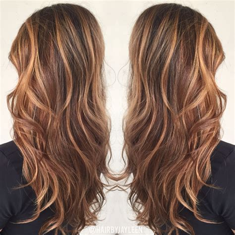 light caramel brown hair color balayage with caramel color
