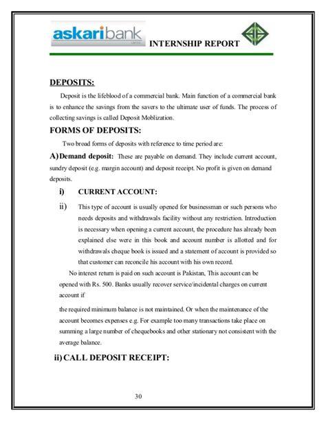 Askari Bank Letterhead report on askari bank by linky city