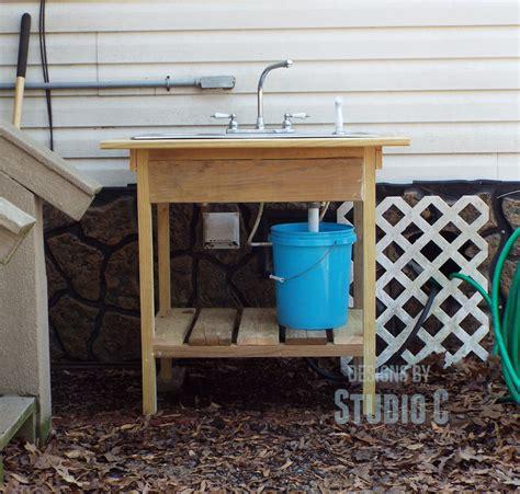build  outdoor sink  connect    outdoor spigot