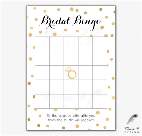bridal shower printable bingo black gold bridal shower bingo cards printed or printable