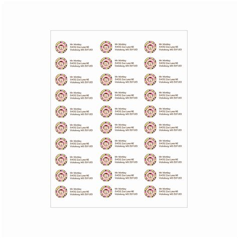 avery address label template avery return address labels template