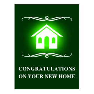 congratulations on your new home postcards zazzle