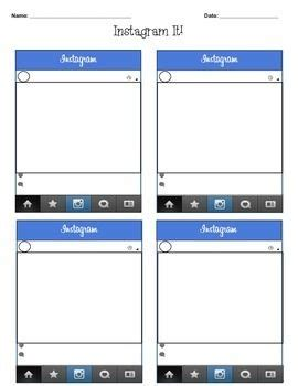 1000 Images About Instagram Template On Pinterest First Day Of School Activities And Student Instagram Frame Template Pdf