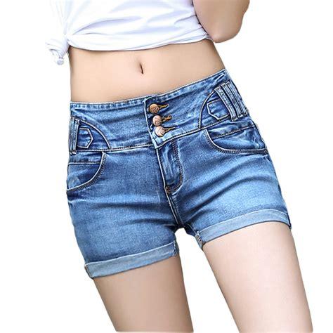 high waist shorts denim shorts femme 2017