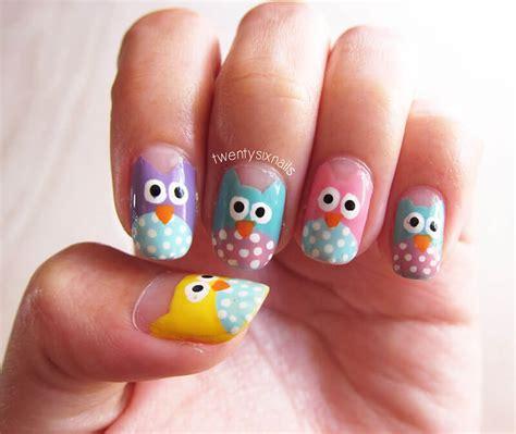 Imagenes De Uñas Pintadas De Buhos   u 241 as decoradas con b 250 hos u 209 as decoradas nail art