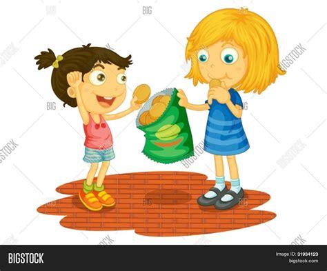 imagenes de niños jugando y compartiendo vector y foto ilustraci 243 n de ni 241 os compartiendo bigstock