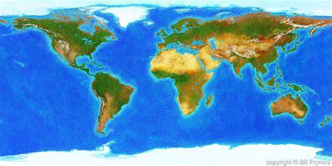 panoramic world map