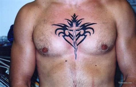 cross tattoo on left chest chest tattoos and designs page 85