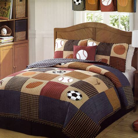 Size Sports Bedding by Classic Sports Quilt Set Boys State Football