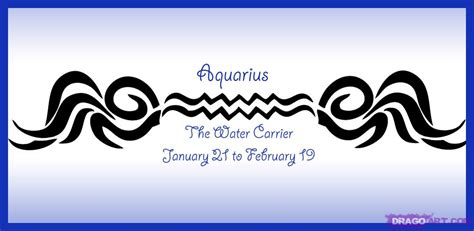 how to draw zodiac sign aquarius step by step symbols