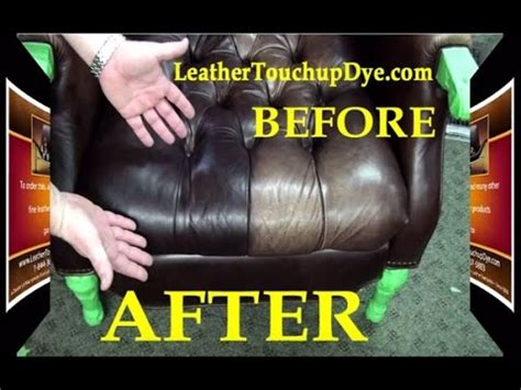 how to touch up a leather couch leather repair kit diy fix worn and faded aniline leather chair youtube